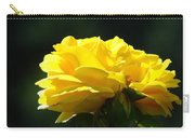 Yellow Rose Sunlit Rose Garden Landscape Art Baslee Troutman  Carry-all Pouch