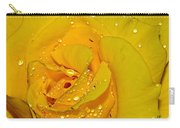 Yellow Rose With Droplets By Kaye Menner Carry-all Pouch