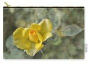 Yellow Rose With Old Marbel Texture Background Carry-all Pouch