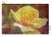 Yellow Rose With Raindrops 3590 Idp_2 Carry-all Pouch