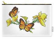 Yellow Roses And Monarch Butterflies Carry-all Pouch