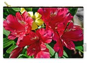 Yellow Sorrel Peeking Out Through Red Azaleas At Pilgrim Place In Claremont-california  Carry-all Pouch