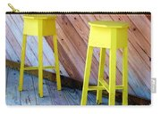 Yellow Stools Carry-all Pouch
