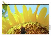Yellow Sunflower Art Prints Bumble Bee Baslee Troutman Carry-all Pouch