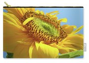 Yellow Sunflower Blue Sky Art Prints Baslee Troutman Carry-all Pouch