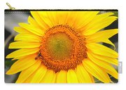 Yellow Sunflower With Bee Carry-all Pouch