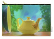 Yellow Teapot And Bowl Carry-all Pouch