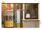 Yellow Trams Of Lisbon Portugal  Carry-all Pouch