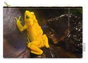 Yellow Tropical Frog Carry-all Pouch