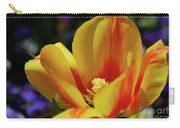 Yellow Tulip Blossom Streaked  With Red In The Spring Carry-all Pouch