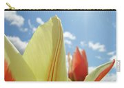 Yellow Tulip Flower Art Prints Spring Blue Sky Clouds Baslee Troutman Carry-all Pouch