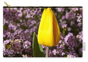 Yellow Tulip In The Garden Carry-all Pouch