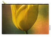 Yellow Tulip Textures Of Spring Carry-all Pouch