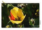 Yellow Tulip With Red Stripe Carry-all Pouch
