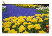 Yellow Tulips And Blue Muscari In Dutch Garden Carry-all Pouch