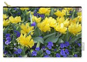 Yellow Tulips And Violets Carry-all Pouch
