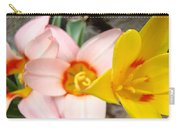Yellow Tulips Art Prints Pink Tulips Spring Florals Baslee Troutman Carry-all Pouch