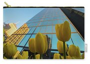Yellow Tulips Looking Up At The Hancock Boston Ma Carry-all Pouch
