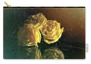 Yellow Vintage Roses  Carry-all Pouch