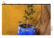 Yellow Wall, Blue Pot Carry-all Pouch