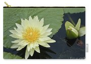 Yellow Water Lily With Bud Nymphaea Carry-all Pouch by Heiko Koehrer-Wagner