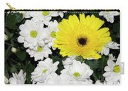 Yellow White Flowers Carry-all Pouch