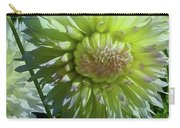 Yellow With White Dahlia Flower Carry-all Pouch