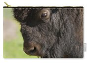 Yellowstone Bison Portrait Carry-all Pouch