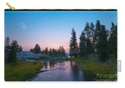 Yellowstone National Park Sunset And Moon Carry-all Pouch