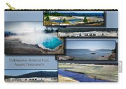 Yellowstone Park August Panoramas Collage Carry-all Pouch