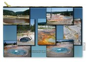 Yellowstone Park Firehole Spring In August Collage Carry-all Pouch
