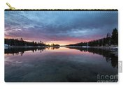 Yellowstone River Sunrise Colors Carry-all Pouch