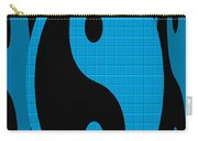 Yin Yang Blue Mosaic Carry-all Pouch