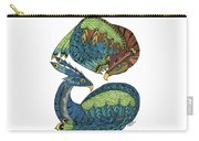 Yin Yang Dragons Carry-all Pouch by Barbara McConoughey