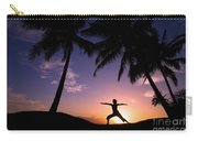 Yoga At Sunset Carry-all Pouch