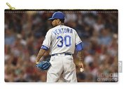 Kansas City Royals, Yordano Ace Ventura,  Painting, Forever Blue Carry-all Pouch