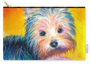 Yorkie Puppy Painting Print Carry-all Pouch