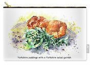 Yorkshire Puddings With Yorkshire Salad Garnish Carry-all Pouch