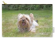 Yorkshire Terrier Is Smiling At The Camera Carry-all Pouch