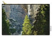 Yosemite Falls With Late Afternoon Light In Yosemite National Park. Carry-all Pouch