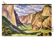Yosemite National Park Vintage Poster Carry-all Pouch
