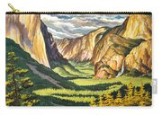 Yosemite Park Vintage Poster Carry-all Pouch