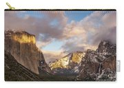Yosemite Tunnel View Sunset In Winter Carry-all Pouch