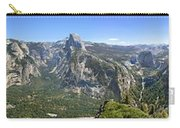 Yosemite Valley Panorama From Union And Glacier Points Carry-all Pouch