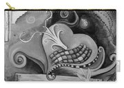 You Caught My Heart Black White Carry-all Pouch
