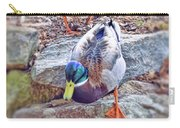 You Go First - Male And Female Mallard Ducks Carry-all Pouch