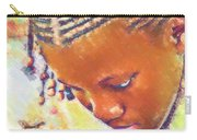 Young Black Female Teen 2 Carry-all Pouch