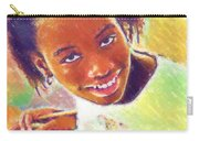 Young Black Female Teen 5 Carry-all Pouch