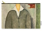 Young Boy With Red Hair Carry-all Pouch by Amedeo Modigliani