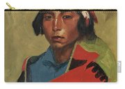 Young Buck Of The Tesuque Pueblo Carry-all Pouch